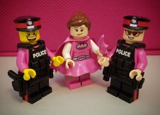 Lego pink police
