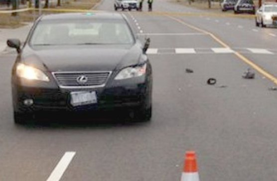 CP24 by Twitter photo shows damaged left fender, headlight