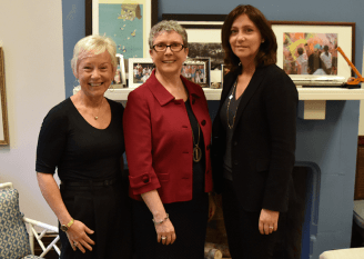 (l-r) Head of School Deryn Lavell, Judith Carlisle and Board of Governors Chair Cindy Tripp '82