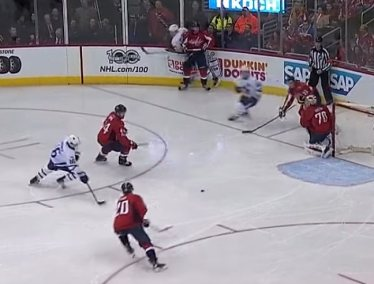 Leafs score on Caps