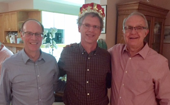 Phil Parsons flanked by Jamie Procunier and Bill Pashby
