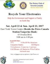 Leaside Rotary recycling weekend