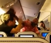 Fight aboard All Nippon plane