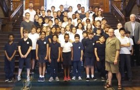 Kids from Holy Name School at Queen's Park