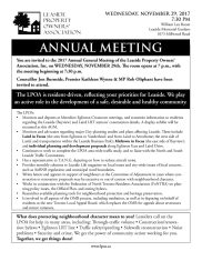 Leaside Property Owners AGM