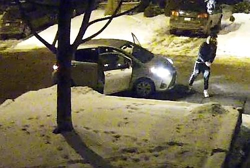 Egg throwers seen early Saturday attacking a Leaside home
