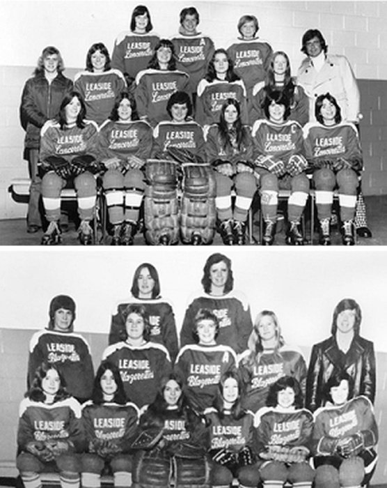 Two-team house league had the Lancerettes (top) and Blazerettes (bottom)