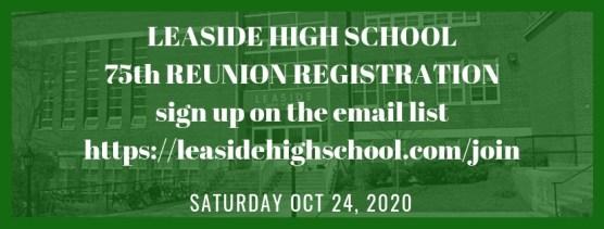 LHS 75th Reunion registration 10-24-2020