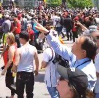 Thrilled crowds
