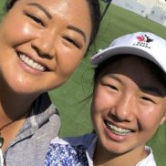 Michelle Liu with mom