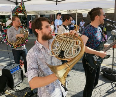 Turbo Street Funk Band rocked with tuba, french horn/Bulldog