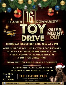 Dec 5, 2019 - Leaside Guys Night Out Toy Drive