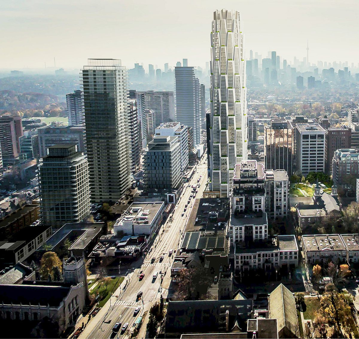 Honeycomb tower for Yonge and St. Clair cut by four floors - The South Bayview Bulldog