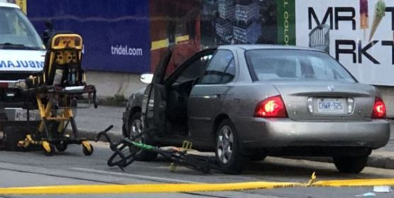 Rider lost control and fell in front of a car/City News
