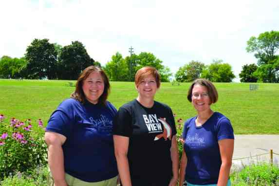 Stephanie Harling, Patty Pritchard Thompson, and Christa Marlowe, along with Carol Voss (not in photo), were the key founders of Bay View Neighborhood Association's and Milwaukee County Parks' signature summer concert series in Humboldt Park. The concert series launched in 2005 with a single concert and has grown to 14 concerts in the 2015 season. PHOTO JENNIFER KRESSE