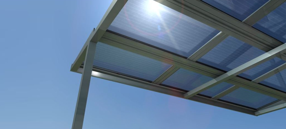 Create a stylish pergola using solar PV