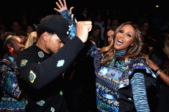 Chance the Rapper and Iman dance at KENZO x HM Launch Event