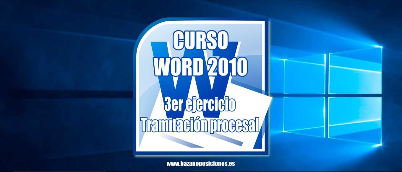 Curso Word Tramitación Procesal Bazan Oposiciones