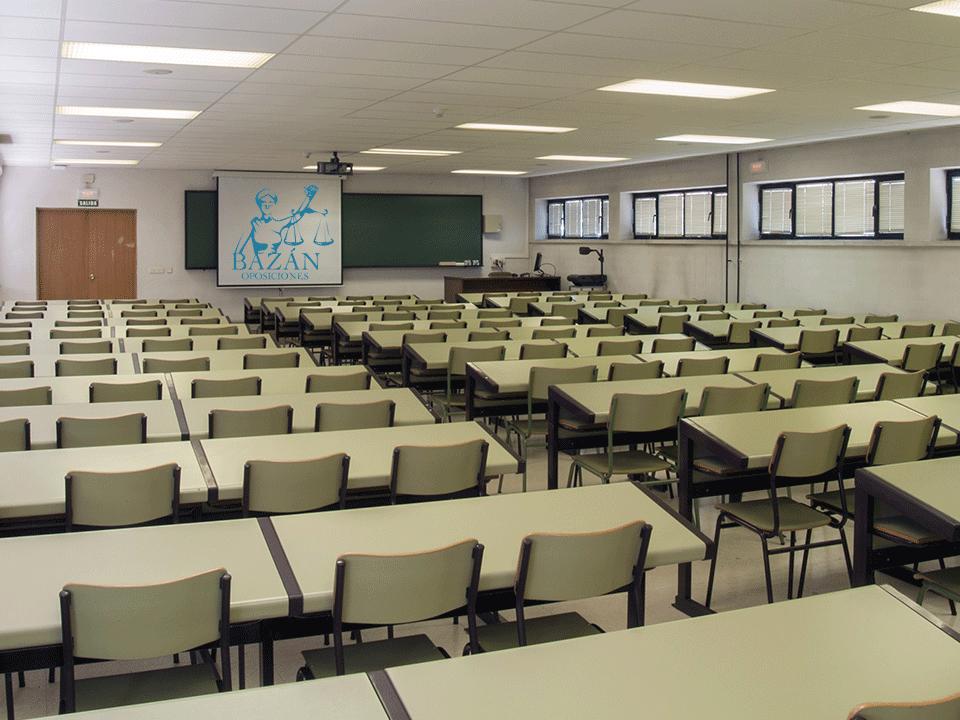 Distribución de opositores por aula