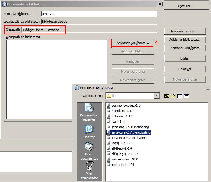 Instalação Jena - NetBeans e Eclipse (3/6)