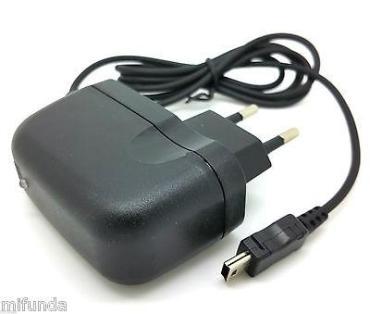 CARGADOR DE RED UNIVERSAL MINI USB 5 PIN 110-250 V AC / 5V DC TRAVEL CHARGER