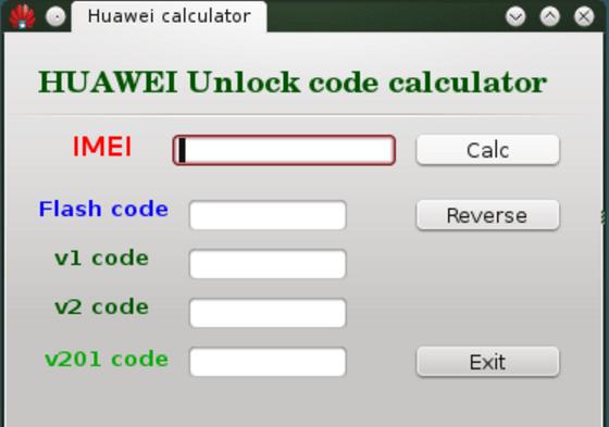 Huawei Code Calculator V5