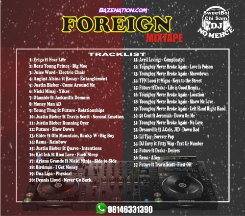 DJ No Mehce (SweetBoi Chi Sam) - Foreign HipHop Mix