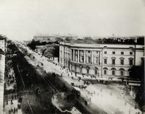Невский проспект. Вид с Садовой ул. на Императорскую Публичную библиотеку