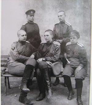 Офицеры женского батальона