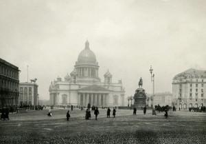 Исаакиевский собор. Памятник Николаю I., Часть Исаакиевской площади