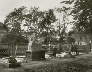 Летний сад. Амур и Психея. Фото К.К.Буллы. 1913