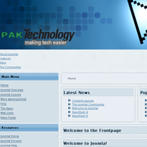 Joomla Template Pakistan Technology