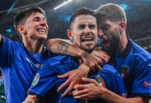 Italy celebrate reaching the final of Euro 2020