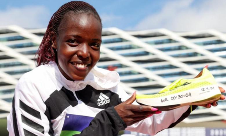 Kenya's Agnes Tirop broke the world record for a women's 10km road race in Germany in September