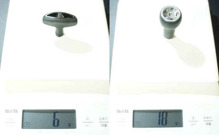 DRT ハンドルノブ 重量比較