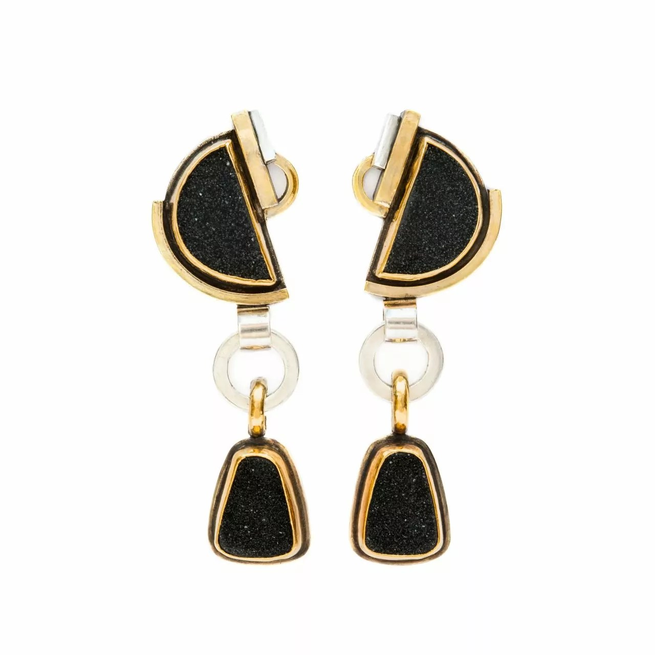 Earrings with Druzies