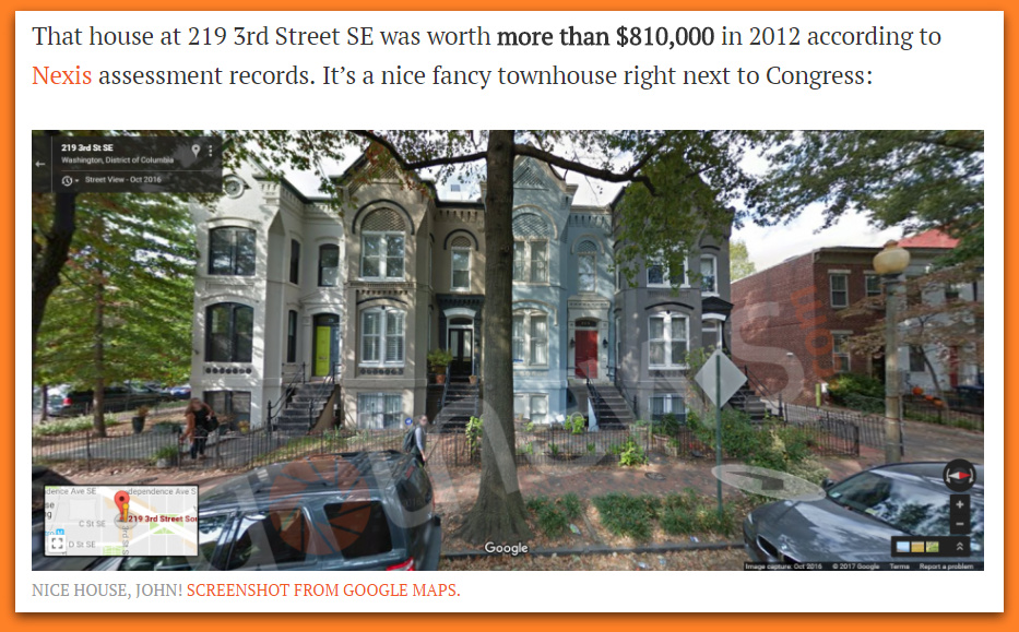 Congressman John Lewis Skipped Out On Paying Taxes On His DC Townhouse