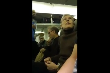Angry Liberal Escorted Off Plane For Harassing Trump Supporter (Video)
