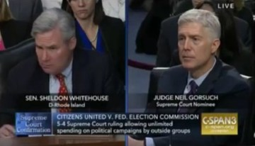 """Gorsuch & Dem Senator Whitehouse Clash On Disclosure Laws, """"The Ball Is In Your Court"""""""