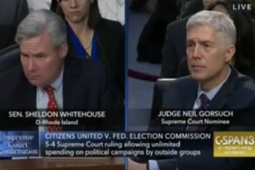 "Gorsuch & Dem Senator Whitehouse Clash On Disclosure Laws, ""The Ball Is In Your Court"""