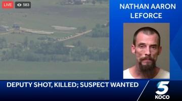 BREAKING NEWS: Deputy Shot & Killed: Suspect On The Run (Live Video)