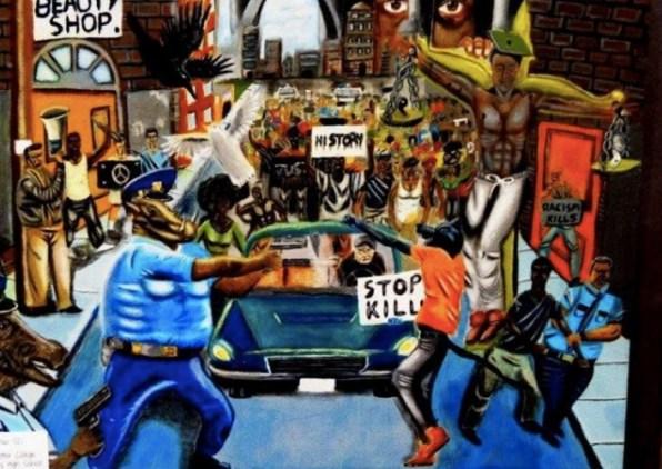Federal Judge Denies Democrat's Lawsuit Seeking To Re-Hang 'Cops As Pigs' Painting