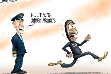 Cartoon: United Airlines Fight or Flight?