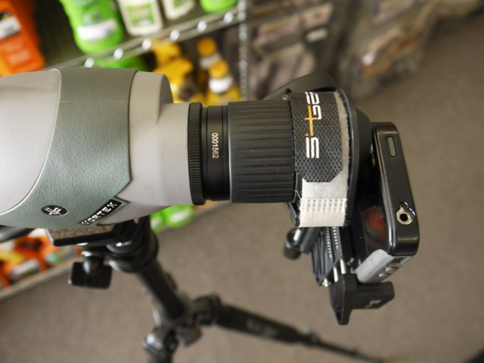 Smartphone Spotting Scope Adapter by S4Gear at Bull Basin Archery in Flagstaff, Arizona.