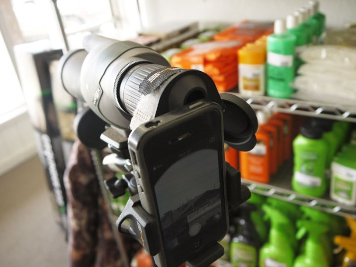 S4Gear Smartphone Spotting Scope Adapters (iPhone, Samsung & more) available at Bull Basin Archery.