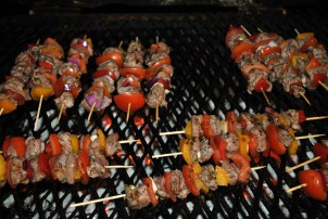 And on they go... the coals must be just right!