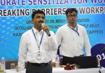 Our PwD Specialist, Ashok Kumar, delivers the workshop modules
