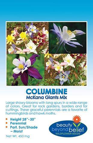 Columbine Mckana Giant Aquilegia Mckana Giant Wildflower Seeds