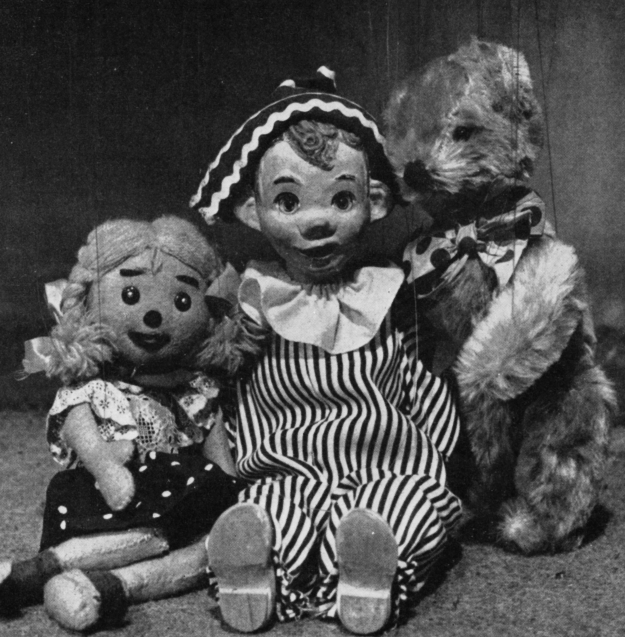 Puppets Loobie Loo, Andy Pandy and Teddy