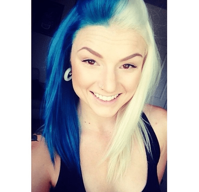 Split Hair colour trend